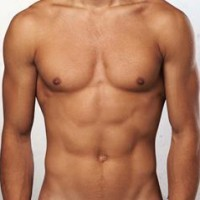 Muscular man with Liposuction treatment