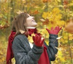 Woman in autumn