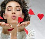 beautiful girl holding a heart