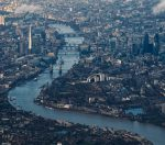 Skyline of London seen from the sky